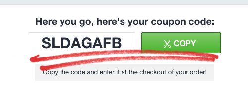 2. Click the button to profit from your coupon