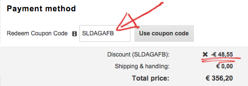 3. Use the coupon code at the top of your screen or use the deal